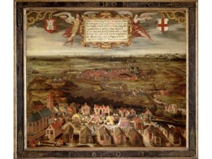 Belegering Alkmaar 1573, van onbekende kunstenaar. Te zien in Stedelijk Museum Alkmaar.