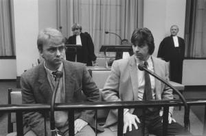 Rechts Willem Holleeder, links de vermoorde Cor van Hout.