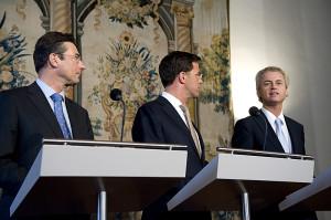 Wilders (rechts): altijd in het nieuws.