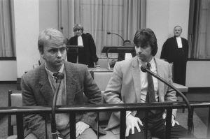 De Neus (rechts) en Flipper tijdens proces over ontvoering.