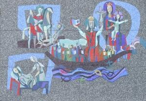 Daan Wildschut: mozaïek St. Willibrord