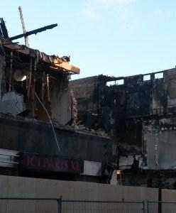 Waardijk, waar brand begon op 1 januari.