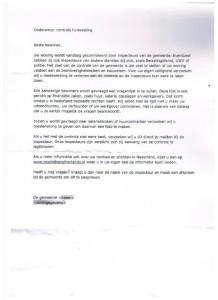 De brief zegt niets over 'vrouwenhandel'.