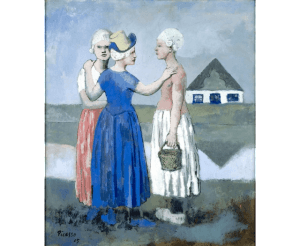 Picasso's Les Trois Hollandaises (1905), goauche collectie Centre Pompidou. Foto: SMA