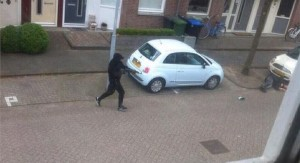 Schutter in Zaandam, vanmiddag. Foto: RTV NH