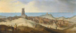 Van der Heck. Gezicht op Egmond-aan-Zee (na 1635)