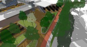 De Bergerhofzijde van het station wordt vernieuwd.