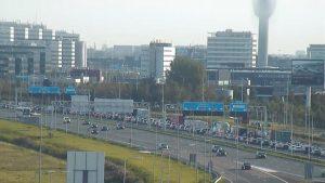 De A4 bij Schiphol gaat vannacht dicht. Foto: VID