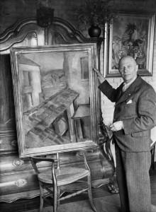Boendermaker met schilderij Piet Wiegman, collectie RKD