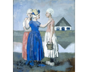 Picasso, Les Trois Hollandaises (1905). Gouache collectie Centre Pompidou. © Succession Picasso 2016